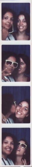 salima and julia in a photobooth on coney island, august 2009