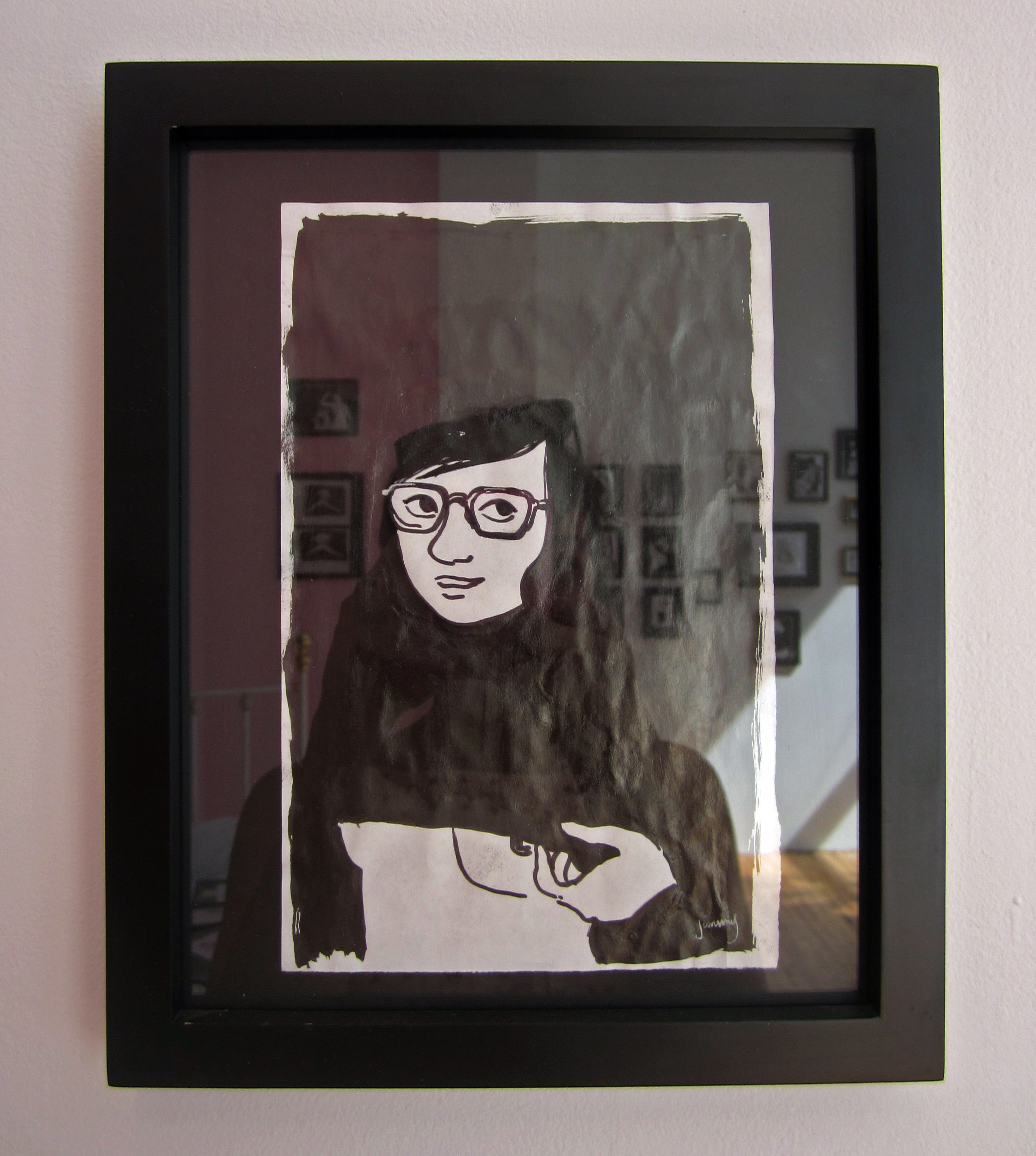 i was tempted to purchase this piece for simon – he kind of has a thing for  brunettes with glasses.