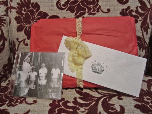 photograph of package from emily
