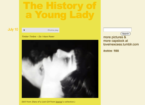 screen cap of anonymous emily's tumblr featuring a film still of louise brooks