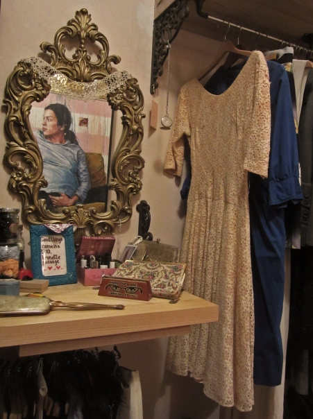 vintage clothing in julia's closet