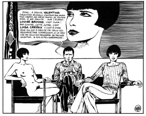 Valentina, Crepax and Brooks
