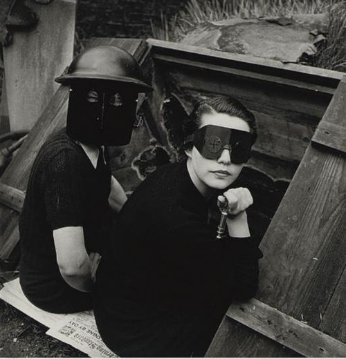 Women Firewatchers' by Lee Miller for British Vogue, 1940