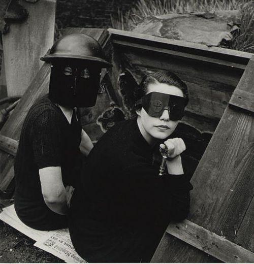 Women Firewatchers' by Lee Miller for British Vogue, 1940
