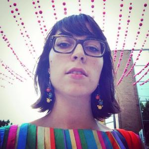 A selfie of the writer, garconniere, on her way to see Sylvan Esso in Montreal on June 18, 2014