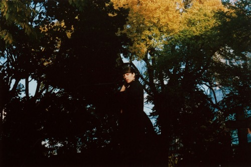 A film photograph taken of the author in CImetière St. Matthews in Quebec City